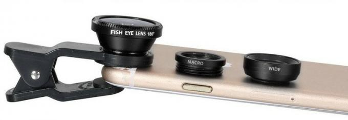 Enlarge Macro Cell Phone Camera Lens 3 In 1 ClIP Lenses 4.1mm Focal Length