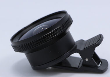 "China 190° Wide Cell Phone Camera Lens 1/3'' 1/2.6"" Fisheye Lens Enlarge Macro 3 In 1 supplier"
