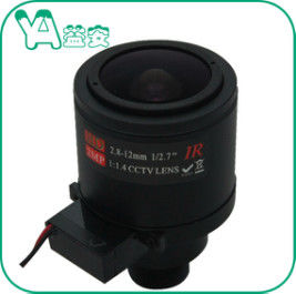 China 0.2 Mm M.O.D CCTV Zoom Lens Manual Zoom 2.8-12Mm Focal Length High Defination distributor